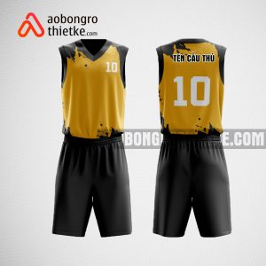 Mẫu quần áo bóng rổ thiết kế tại vàng đen WARRIOR ABR473