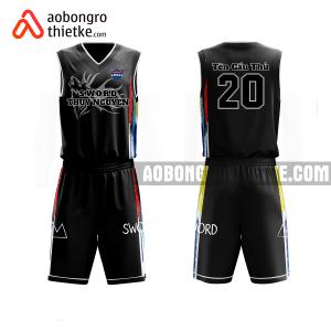 Mẫu áo bóng rổ thiết kế đội tuyển đen ABR613