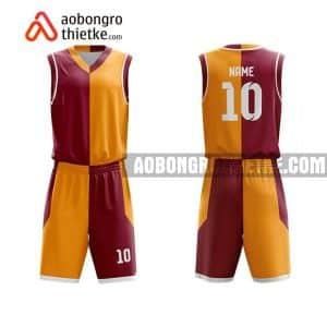Mẫu quần áo bóng rổ Chuyên Sinh ĐH QG Hà Nội màu nâu uy tín nhất ABR733