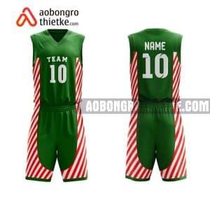 Mẫu quần áo bóng rổ Chuyên Toán ĐH QG Hà Nội màu xanh lá gần đây ABR717