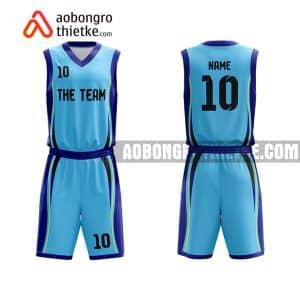Mẫu quần áo bóng rổ Chuyên Toán ĐH Vinh màu xanh rẻ nhất ABR769