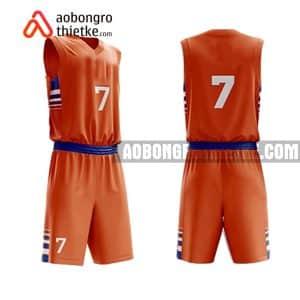 Mẫu quần áo bóng rổ Đại học An Giang màu cam độc nhất ABR647