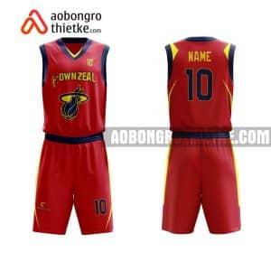 Mẫu quần áo bóng rổ Đại học Bách khoa Hà Nội màu đỏ độc nhất ABR617