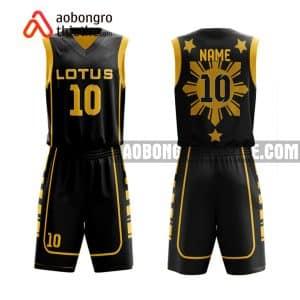 Mẫu quần áo bóng rổ Đại học Bách khoa TP HCM màu đen mới nhất ABR624
