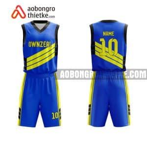 Mẫu quần áo bóng rổ Đại học Bình Dương màu xanh chất lượng nhất ABR704