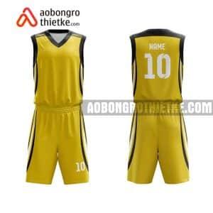 Mẫu quần áo bóng rổ Đại học Cần Thơ màu vàng rẻ nhất ABR619