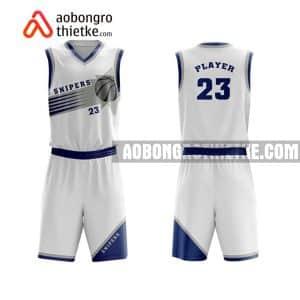 Mẫu quần áo bóng rổ Đại học Công nghệ Đà Nẵng màu trắng uy tín nhất ABR688
