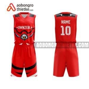 Mẫu quần áo bóng rổ Đại học Công nghệ Đồng Nai màu đỏ mua nhiều nhất ABR705