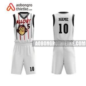 Mẫu quần áo bóng rổ Đại học Công nghệ TP HCM màu trắng chất lượng nhất ABR644