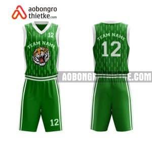 Mẫu quần áo bóng rổ Đại học Công nghiệp Hà Nội màu xanh lá mới nhất ABR684