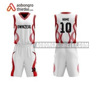 Mẫu quần áo bóng rổ Đại học Công nghiệp TP HCM màu trắng tốt nhất ABR666