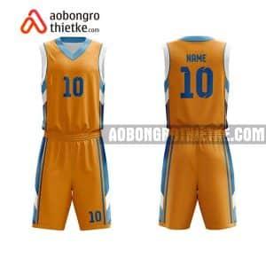 Mẫu quần áo bóng rổ Đại học Cửu Long màu cam yêu thích nhất ABR713