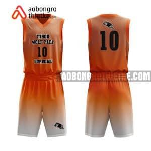 Mẫu quần áo bóng rổ Đại học Đà Lạt màu cam uy tín nhất ABR658