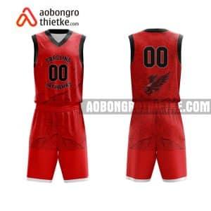 Mẫu quần áo bóng rổ Đại học Đà Nẵng màu đỏ uy tín nhất ABR628