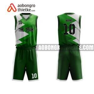 Mẫu quần áo bóng rổ Đại học Điện lực màu xanh lá uy tín nhất ABR673
