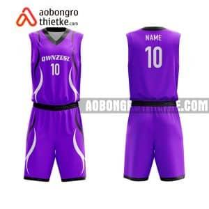 Mẫu quần áo bóng rổ Đại học Đồng Tháp màu tím rẻ nhất ABR664
