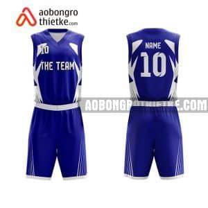 Mẫu quần áo bóng rổ Đại học Dược Hà Nội màu xanh hot nhất ABR682