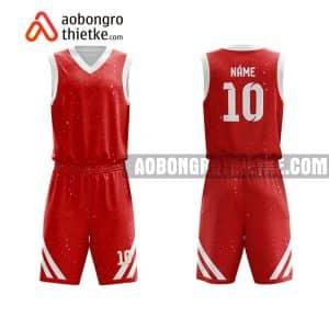 Mẫu quần áo bóng rổ Đại hoc Duy Tân màu đỏ mới nhất ABR639