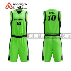 Mẫu quần áo bóng rổ Đại học FPT màu xanh lá chính hãng ABR640