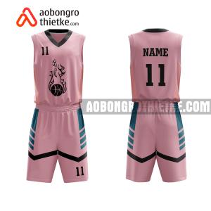 Mẫu quần áo bóng rổ Đại học Giao thông Vận tải màu hồng độc nhất ABR632