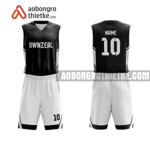 Mẫu quần áo bóng rổ Đại học Giao thông vận tải TP HCM màu đen hot nhất ABR712