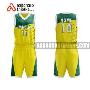 Mẫu quần áo bóng rổ Đại học Hà Nội màu vàng độc nhất ABR707