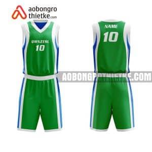 Mẫu quần áo bóng rổ Đại học Hàng hải Việt Nam màu xanh lá tốt nhất ABR651