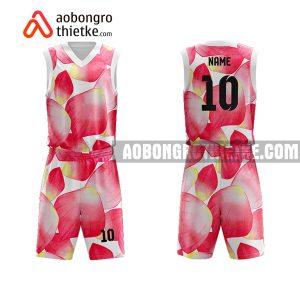 Mẫu quần áo bóng rổ Đại học Hoa Sen màu hồng mới nhất ABR654