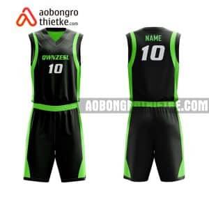Mẫu quần áo bóng rổ Đại học KHTN (Đại học Quốc gia Hà Nội) màu xanh lá lấy ngay ABR695