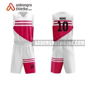 Mẫu quần áo bóng rổ Đại học KHXH&NV (Đại học Quốc gia TP HCM) màu hồng lấy ngay ABR665