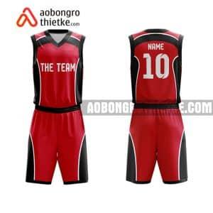 Mẫu quần áo bóng rổ Đại học Kiến trúc Hà Nội màu đỏ rẻ nhất ABR694