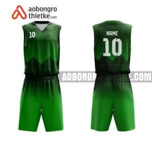 Mẫu quần áo bóng rổ Đại học Kiến trúc TP HCM màu xanh lá đẹp nhất ABR706