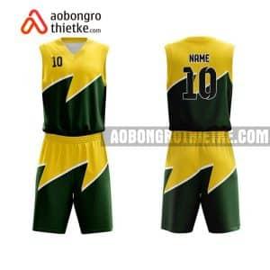 Mẫu quần áo bóng rổ Đại học Kinh tế – Luật TP HCM màu vàng chính hãng ABR685
