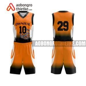 Mẫu quần áo bóng rổ Đại học Kinh tế (Đại học Quốc gia Hà Nội) màu cam đẹp nhất ABR691