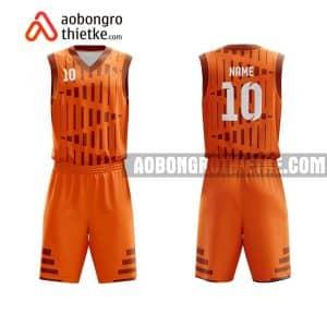Mẫu quần áo bóng rổ Đại học Kinh tế TP HCM màu cam tốt nhất ABR636