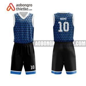 Mẫu quần áo bóng rổ Đại học Kinh tế công nghiệp Long An màu xanh mới nhất ABR714