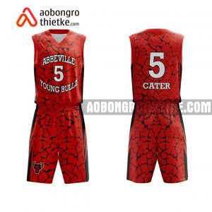 Mẫu quần áo bóng rổ Đại học Lâm nghiệp màu đỏ gần đây ABR672
