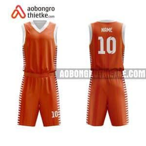 Mẫu quần áo bóng rổ Đại học Luật Hà Nội màu cam lấy ngay ABR680