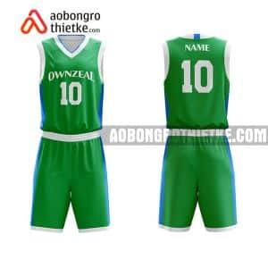 Mẫu quần áo bóng rổ Đại học Luật TP HCM màu xanh lá độc nhất ABR662