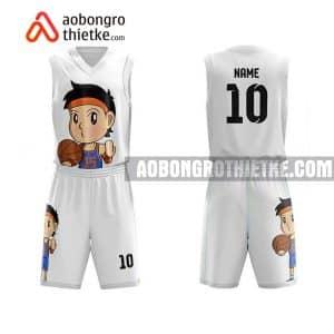 Mẫu quần áo bóng rổ Đại học Mỏ – Địa chất màu trắng hot nhất ABR622