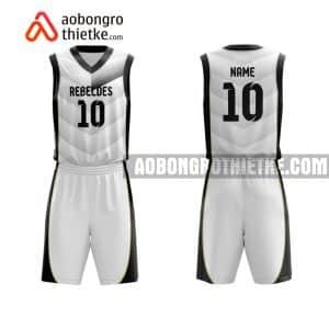 Mẫu quần áo bóng rổ Đại học Mở Hà Nội màu trắng độc nhất ABR677