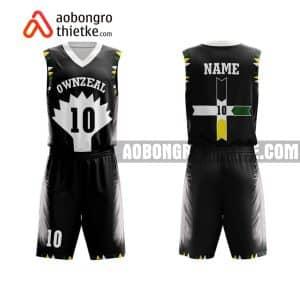 Mẫu quần áo bóng rổ Đại học Mở TP HCM màu đen yêu thích nhất ABR668