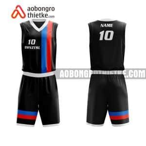 Mẫu quần áo bóng rổ Đại học Ngân hàng TP HCM màu đen rẻ nhất ABR679