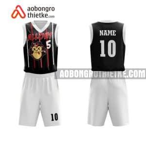 Mẫu quần áo bóng rổ Đại học Nguyễn Tất Thành màu đen gần đây ABR657
