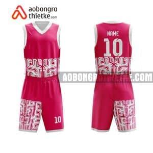 Mẫu quần áo bóng rổ Đại học Nông Lâm (Đại học Huế) màu hồng gần đây ABR687