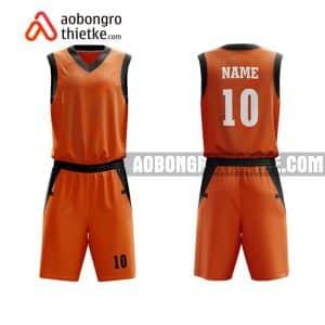 Mẫu quần áo bóng rổ Đại học Nông Lâm TP HCM màu cam chính hãng ABR625