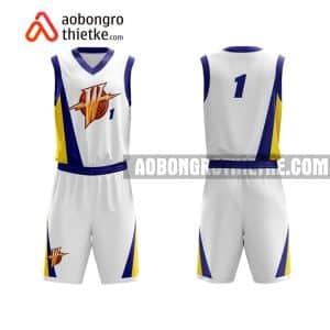 Mẫu quần áo bóng rổ Đại học Nông lâm Bắc Giang màu trắng mới nhất ABR699