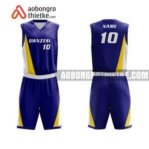 Mẫu quần áo bóng rổ Đại học Nông lâm Thái Nguyên màu xanh rẻ nhất ABR649