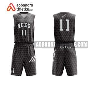 Mẫu quần áo bóng rổ Đại học Quảng Bình màu đen mua nhiều nhất ABR690