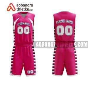 Mẫu quần áo bóng rổ Đại học Quốc gia TP HCM màu hồng tốt nhất ABR621